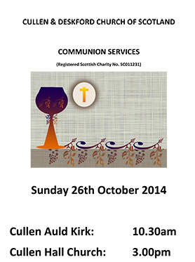 Communion service at Cullen Church